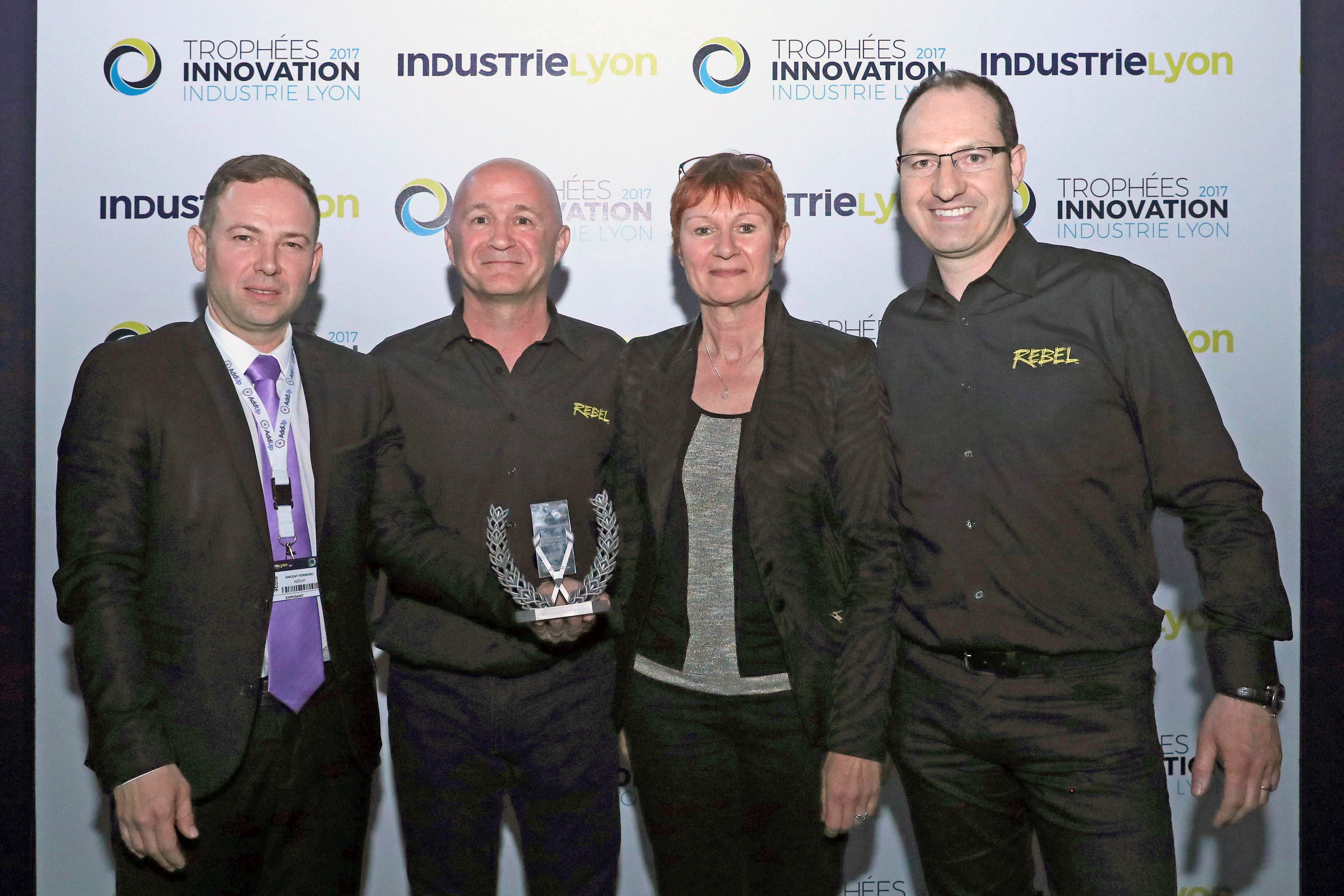Accepting the Industrie Lyon 2017 Innovation Award for ESAB